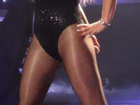 Britney Spears in collant a rete e body