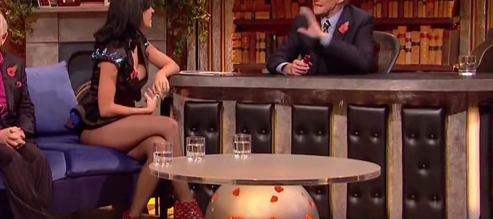 Katy Perry scosciatissima in collant