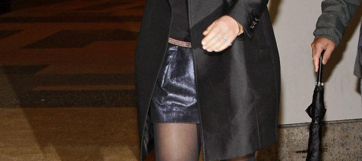 Le Gambe Chilometriche di Gwyneth Paltrow in collant neri