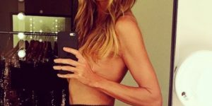 Heidi Klum nuda in collant in ufficio: lo scatto HOT su Instagram