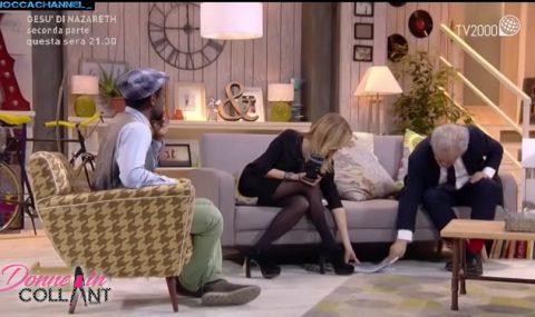 Arianna Ciampoli: milf in collant in televisione