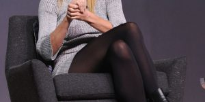 Gwyneth Paltrow bellissima in collant neri