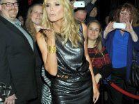 Heidi Klum: Gambe Chilometriche in Collant a Rete