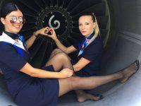Le Hostess Di Volo In Collant: Una collezione di foto
